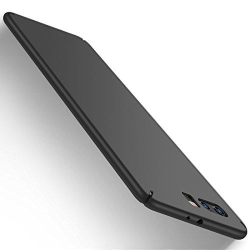 Cover Huawei P10 Plus, Humixx Custodia Huawei P10 Plus Ultra sottile Anti-graffio Anti-impronta digitale di Custodia per cellulare Della Copertura Protettiva in Plastica Dura [Skin Series] (nero)