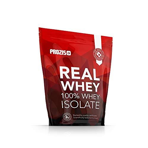 Prozis 100% Real Whey Isolate 1000 g Erdbeere - Ideal für Gewichtsverlust, Muskelerholung und Bodybuilding - leicht verdaulich, kohlenhydratarm - 100% Whey Protein Erdbeere