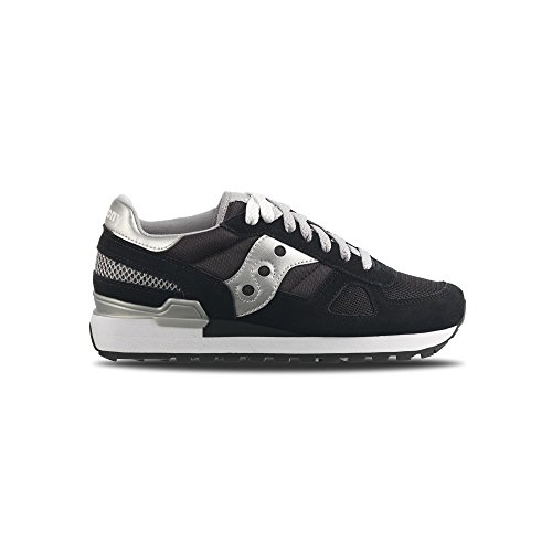 Saucony Shadow Original damen, wildleder, sneaker low Nero/argento