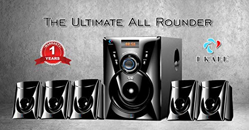 IKALL TA-111 5.1 Channel Home Theater System with Bluetooth, FM, USB, Aux Cable Supported