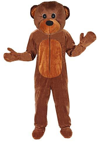 Gesicht Reißverschluss Kostüm - Teddy Bär Einheitsgrösse L - XL Kostüm Fasching Karneval Maskottchen