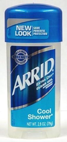 Arrid Extra Dry Antiperspirant & Deodorant Clear Gel, Cool Shower, 2.8 Oz (pack Of 6)
