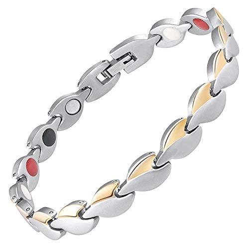 Damen Magnetisch bracelets-all sizes-4in 1Damen Magnet Armbänder Schmerzen, Arthritis Karpaltunnelsyndrom Sehnenscheidenentzündung Gesundheit Armband für women-gsl4 16 cm / 6.3 in
