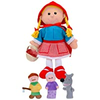 Fiesta Crafts Red Riding Hood Hand and Finger Puppet Set
