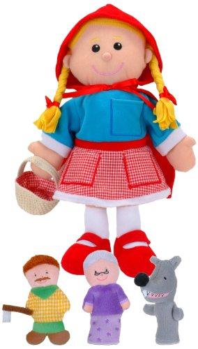 Fiesta Crafts - Marioneta de mano de Caperucita Roja y juego de marionetas de dedo