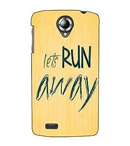 Fuson Designer Back Case Cover for Lenovo S820 (Let's run away theme)