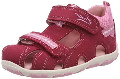 Superfit Baby Mädchen Fanni Sandalen, Pink (Rot/Rosa 52), 19 EU