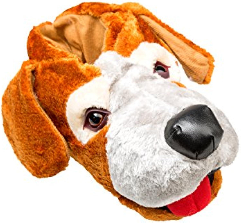 gibra Tierhausschuhe Hund  Braun  Gr. 36 46