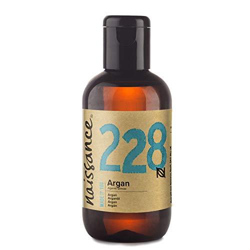 Naissance Aceite Vegetal de Argán de Marruecos n. º 228 – 100ml - Puro, natural, vegano, sin hexano y no OGM - Hidratación natural para el rostro, el cabello, la barba y las cutículas