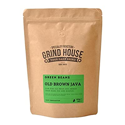 Grind House Old Brown Java Green Coffee Beans for home roasting 400g from Grind House Speciality Roasters