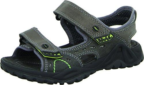 IMAC 34270 Sandale Outdoor Kinder-/Jungenschuh Leder Mesh-Gewebe Atmungsaktiv Robust Sportlich Farbe: Grau/ Neon Gelb, Größe 36 (Sportliche Mesh-gewebe)