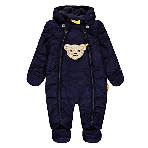 Steiff Baby-Jungen Schneeanzug Schneeoverall, Blau (Marine|Blue 3032), 80