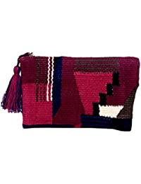 Diwaah Handcrafted Embroidered Rug Zip Top Bag (DWH000001045)