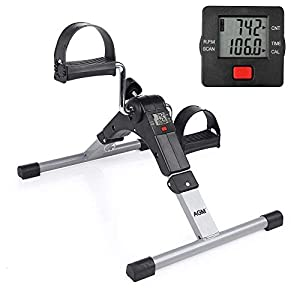 Pedal Exerciser Mini Exercise Bike Indoor Fitness Arm and Leg Digital Display