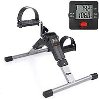 Minibicicleta estática pedales aparato de ejercicios para Entrenamiento de Brazos y Piernas en casa (Plegable
