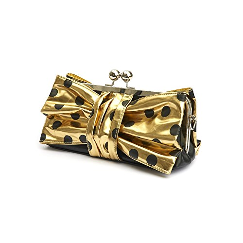 Lola Ramona Oro Polka Dot Bow Wow Borsa, oro (Gold), Taglia unica