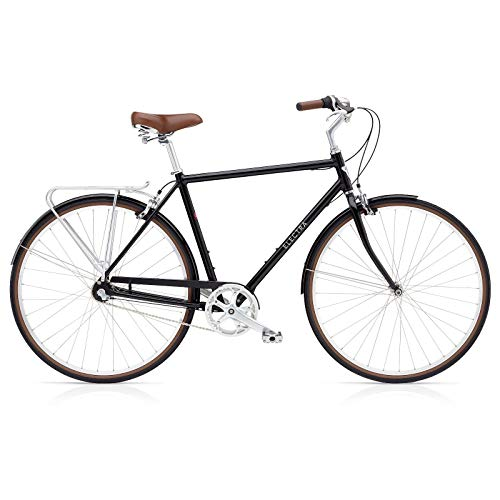 Electra Loft 3i Herren Fahrrad Stadt Rad Urban City Alu Retro 700C Klassisch, Loft3iM, Farbe Schwarz, Größe L