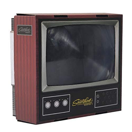 RHSMSS DIY-Bildschirmverstärker, Retro-Stil Mini-TV Handyhalterung HD Projektionsvergrößerer, Geeignet zum Ansehen von Videos auf Allen Smartphones.