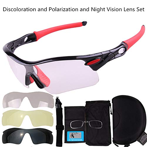 Klassische polarisierte Sonnenbrillenmode Radfahren Brillen Sonnenbrillen Windschutzscheiben Outdoor Sports Mountainbike Brillen Sport Sonnenbrillen Schutz Radfahren Verfärbung und Nachtsicht und pola