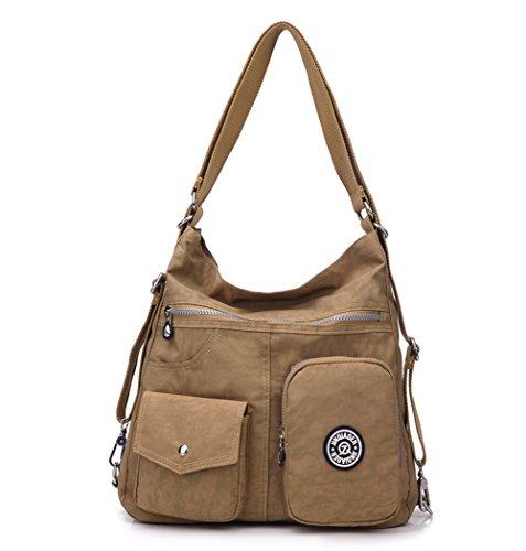 Travistar Damen Tasche Rucksack Handtasche Frauen Rucksackhandtasche Umhängentasche Henktasche Schultertasche für Mädchen Ausflug Einkauf Reise -Wasserdicht und Multitasche