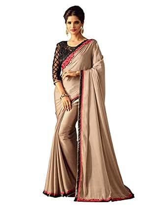 Takshaya Sarees Women's Silk Saree With Blouse Piece (SI20013EN_Gold)