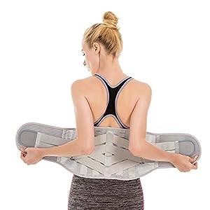 LIJJY Lendenwirbelstütze, Rückenstütze Verstellbarer Rückenstützgürtel Effektvoller Schmerzreduktion Und Haltungskorrektur Für Damen Und Herren
