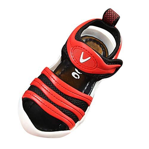2019 neueste Infant Jungen Mädchen Strand Mesh Laufen Sport Trainer Runde Peep Toe Slip-On Sandalen Touch Befestigung Rutschfeste Schuhe für 0-6 Jahre alt Kinder Baby - Schuhe Neueste Nike Damen