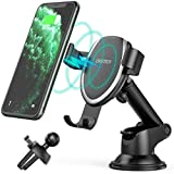 CHOETECH 7.5W Fast Wireless Car Charger Mount Compatible with Apple iPhone 11/11 Pro/11 Pro Max/XR/XS/XS Max/X/8/8+,10W for Galaxy Note 10/Note 10+/S10/S9/S8 Gravity Wireless Car Charger Phone Holder