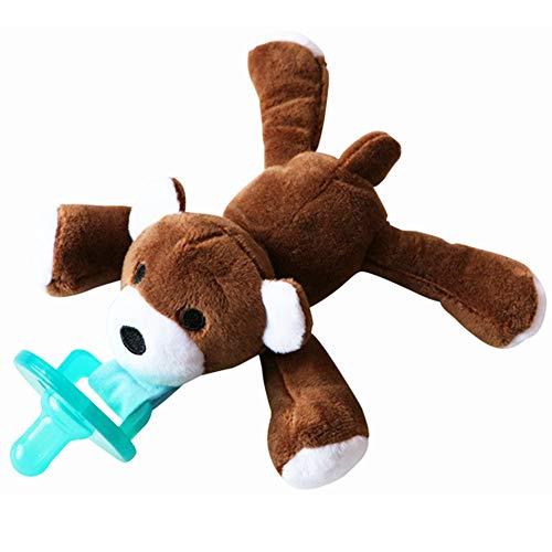 mxdmai Baby Schnuller Spielzeug Infant Pacifier Baby hängende Tier-Plüsch-Spielzeug-Bär Schnullerhalter für Mädchen und Jungen 1Pc