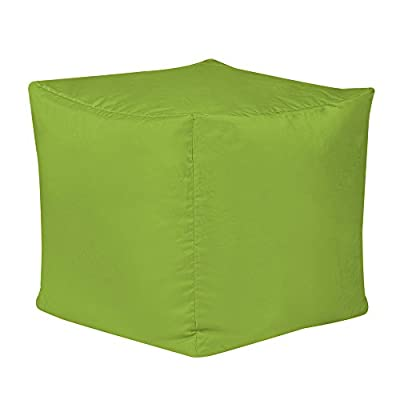Bean Bag Bazaar 38cm x 38cm, Cube Bean Bag Stool - Indoor and Outdoor Use - Water Resistant, Weather Proof Bean Bags