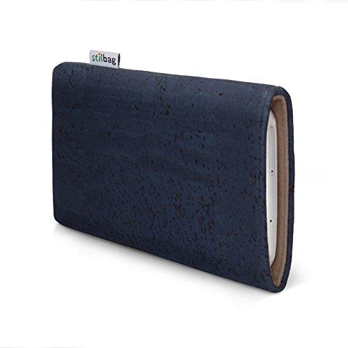 stilbag Funda para teléfono móvil Vigo para Xiaomi Mi Mix 2s | Bolsa para Celular Smartphone Made in Germany | Corcho Azul Vaquero, Fieltro de Lana de Avellana