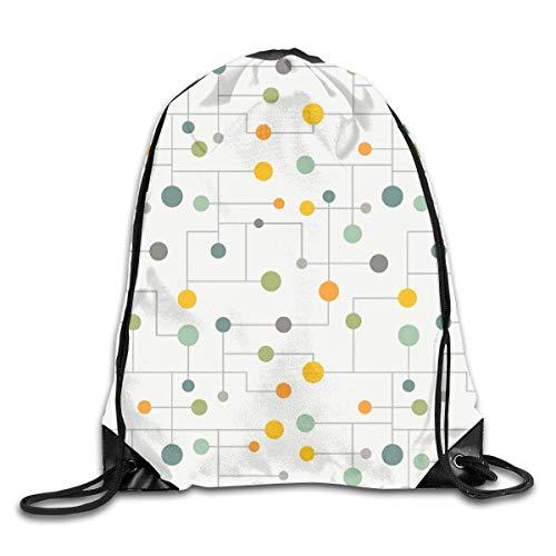 e Backpack Cinch Sacks Bulk Sackpack Star Retro Starbursts Go Mid Century Modern Lines Home School Hiking Travel Bag ()