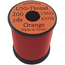 Inalámbrico de montaje 6/0 Uni Thread 200 yds, color: naranja