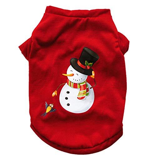 Dog Erwachsene Muster Kostüm Für - Laile Hund Hundemantel Klassisch Weihnachten Sweater Weste T-Shirt Baumwoll Niedlicher Coat Sweater für Hunde Haustier Hund Katze Welpen Winter Warme Kleidung Jacke Mantel Bekleidung