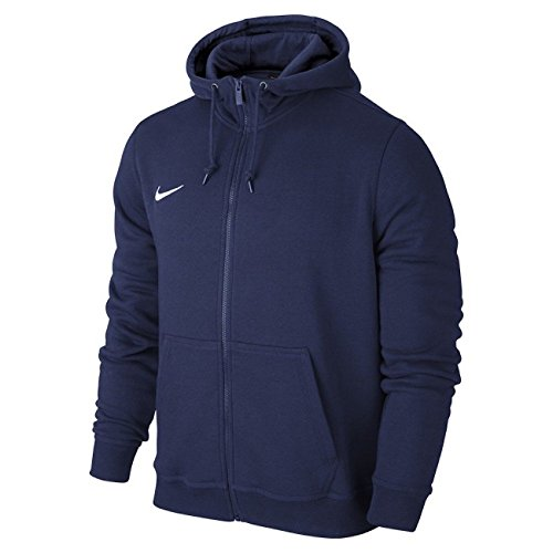 Nike Kinder Team Club Full Zip Kapuzenjacke, Blau (Obsidian/football White), XS, 658499-451 -