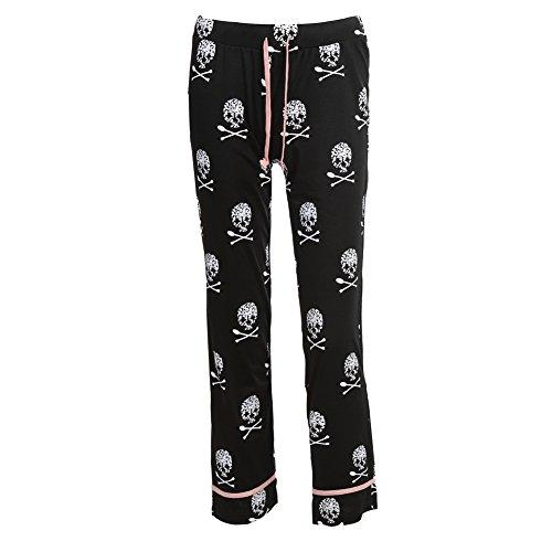 ShenLiNan Womens Skull Printed Casual Pajama Lounge Pant Test