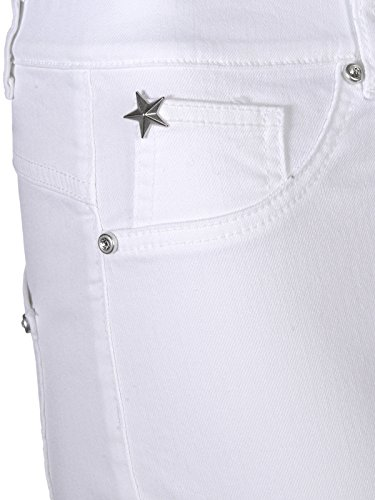 Mocca by J.L. Damen Miracle 360° Jeans Basic Weiß