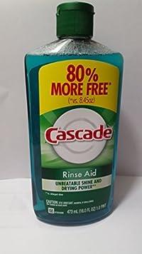 Cascade Rinse Aid, Dishwasher Rinse Agent, Original Scent, 16 Oz. (3pk.)