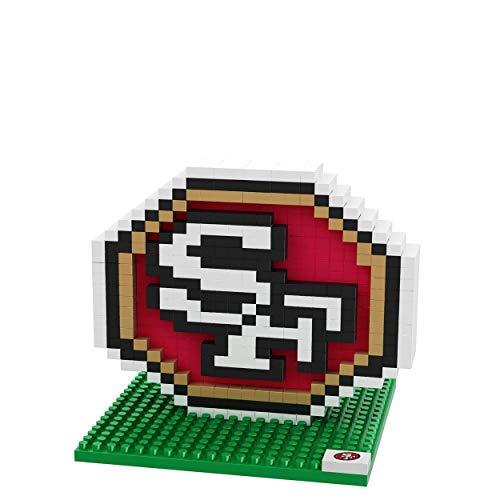 FOCO San Francisco 49ers Logo NFL 3D BRXLZ Juego de construcción