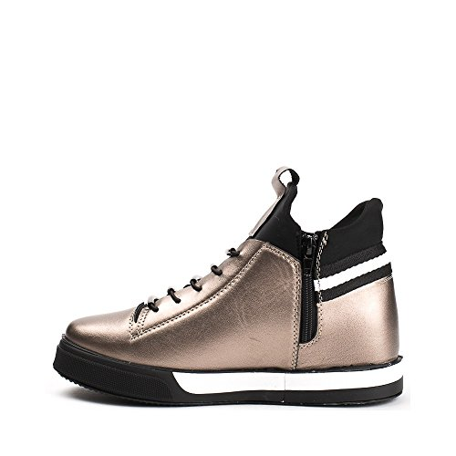 Ideal Shoes ,  Sneaker donna Bronzo