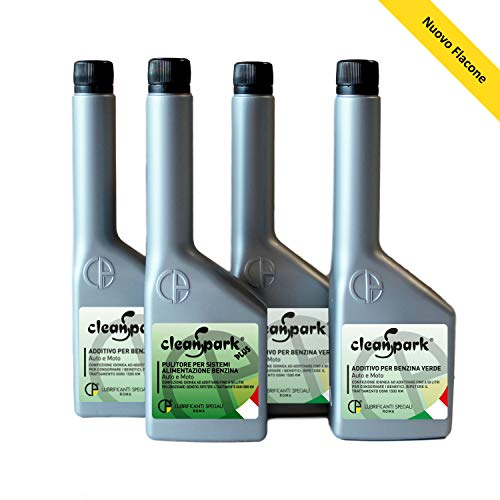 500 ML - KIT TRATTAMENTO RIGENERANTE MOTORI BENZINA (AUTO e MOTO) Additivo preparazione test revisione, 1 flacone (125ml) CLEANSPARK PLUS + 3 flaconi (375ml) CLEANSPARK