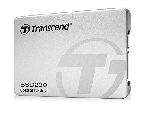 Transcend SSD230S 256 GB interne SSD (6,4 cm (2,5 Zoll), SATA III, 3D NAND TLC , mit Aluminium-Gehäuse) silber