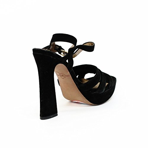 Sam Edelman camoscio blocco tallone sandali, taglia 3,5 RRP £125 Nero (nero)