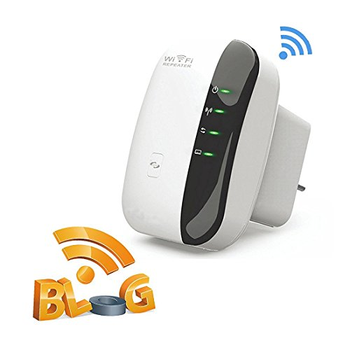 WLAN Repeater WLAN Verstärker Wireless Repeater 300Mit/s Wireless Range Extender Kabelloser Verstärker Signal Verstärkung WiFi Access Point(WPS, LAN Port, 2,4GHz)Willigt IEEE802.11n/g/b Weiß