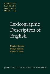 Lexicographic Description of English (Studies in Language Companion Series) by Morton Benson (1986-01-01)