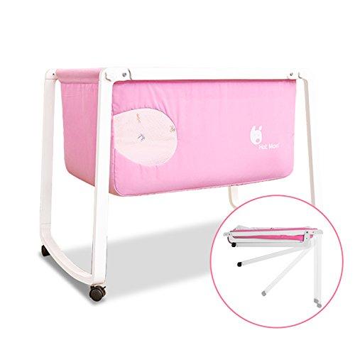 Preisvergleich Produktbild Hot Mom Baby und Kinderbett, Reisebett ,Babywiege und Stubenwagen aus Holz,Pink