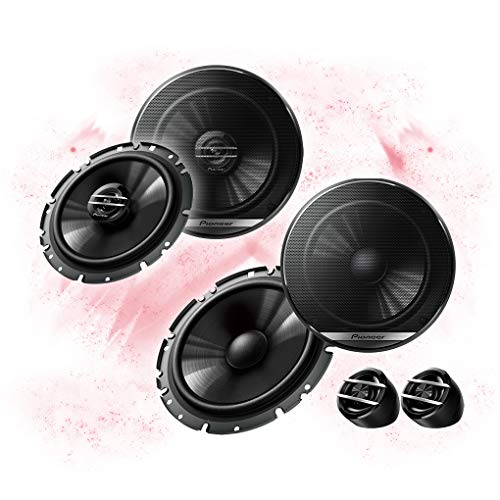 Pioneer Front/Heck 16,5cm/165mm Auto Lautsprecher/Boxen/Speaker Komplett-Set kompatibel für VW Volkswagen
