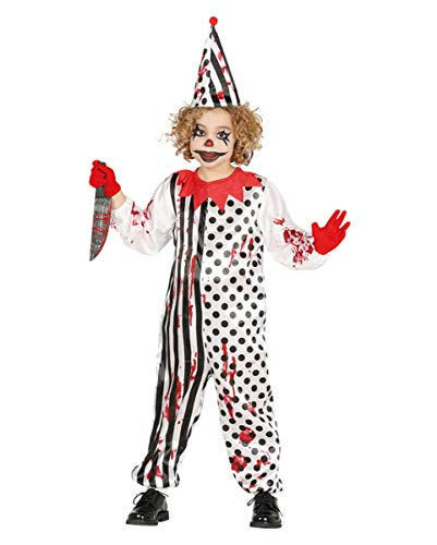 Kostüm Clown Böse Kind Unheimlich - Horror-Clown Kostüm für Kinder L