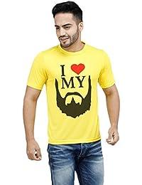 I Love Beard Yellow Boys Tshirt