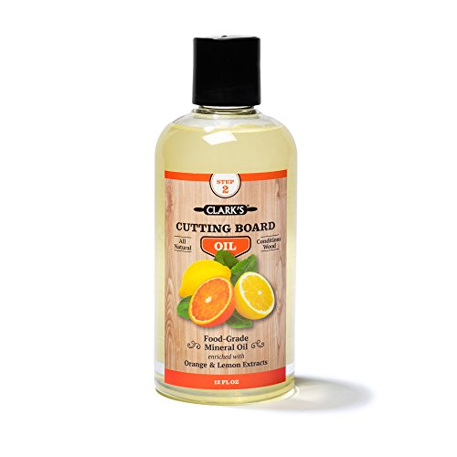Clarks Schneidebrett Öl Angereichert mit Lemon & Orangenöle Food Grade Mineralöl- Butcher Block Oil & Conditioner 12 Unzen Orange Zitronenduft - Bio-4-unzen-flasche